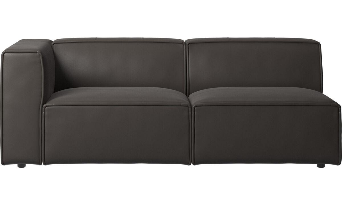 Sofás de 2 plazas y media - Sofá Carmo - En marrón - Piel