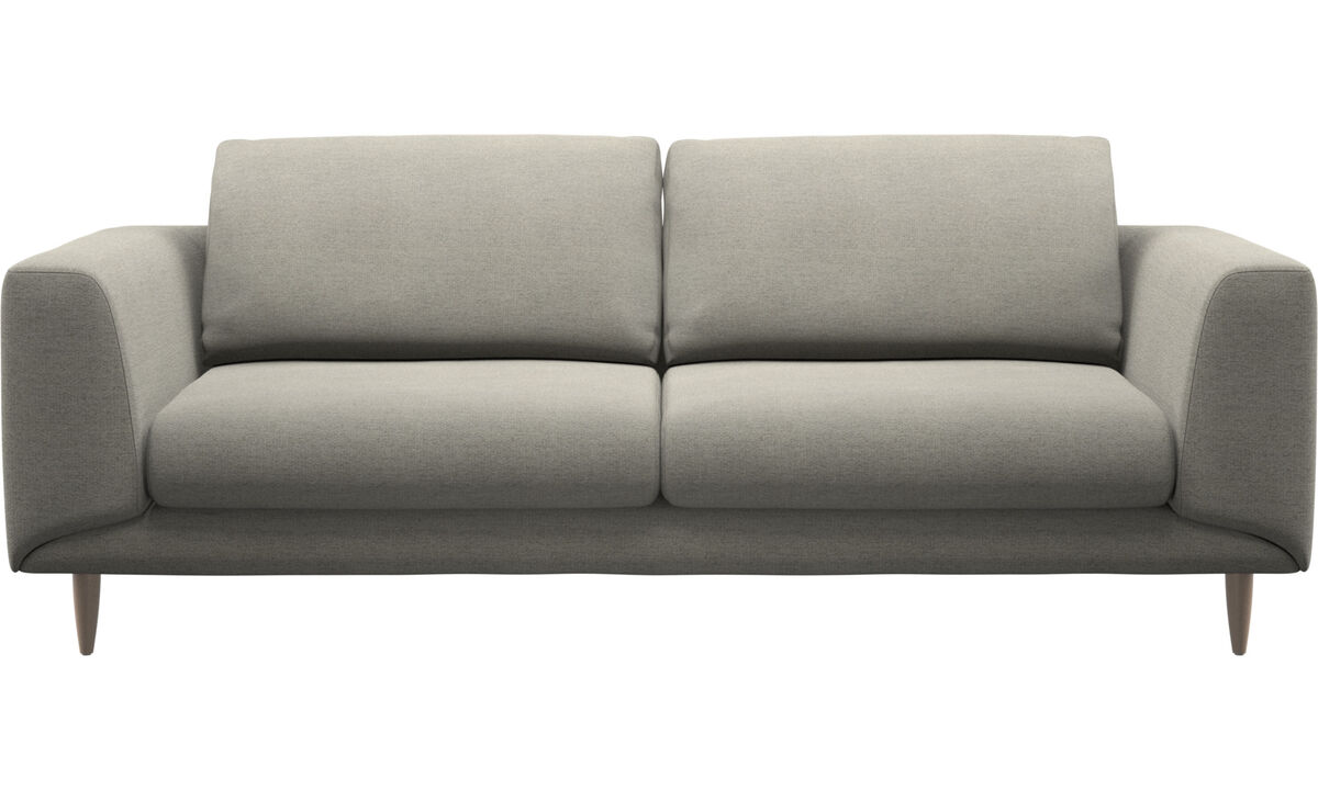 Sofás de 2 plazas y media - sofá Fargo - En beige - Tela
