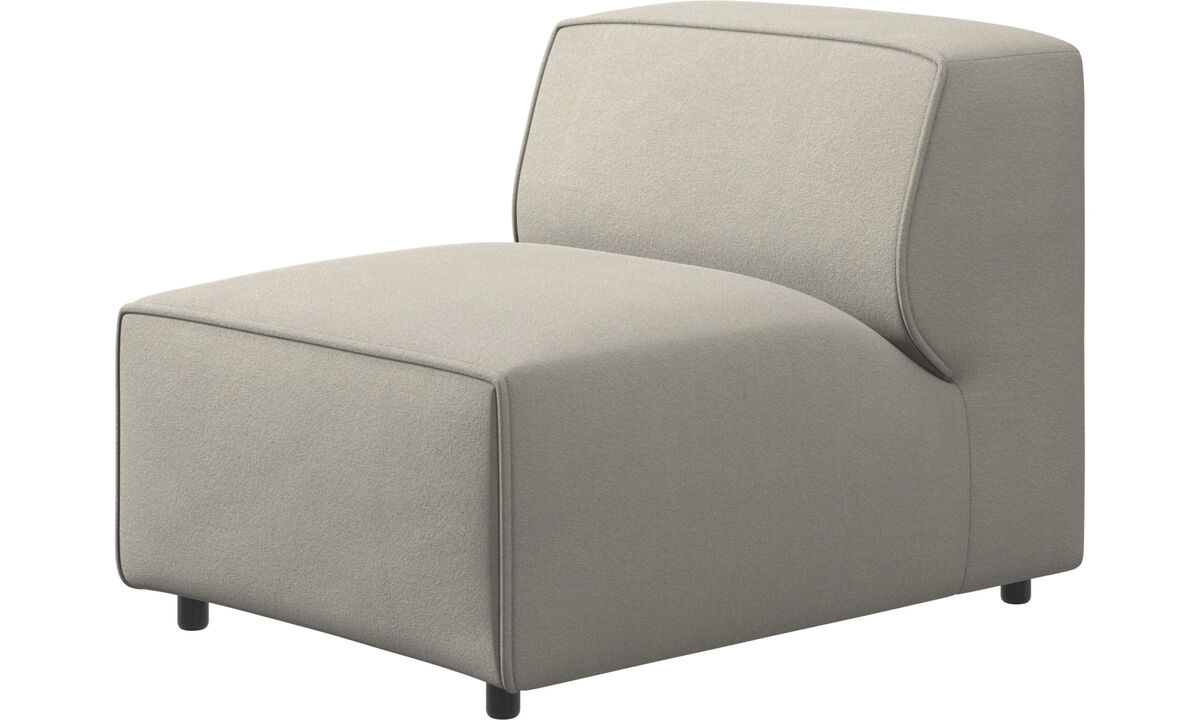 Sofás modulares - silla/módulo básico Carmo - Blanco - Tela