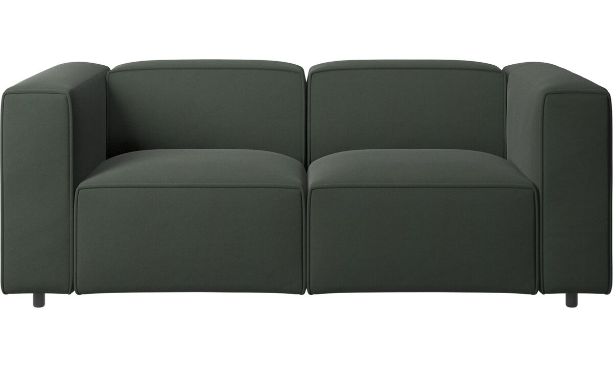 Sofás de 2 plazas - sofá Carmo - En verde - Tela