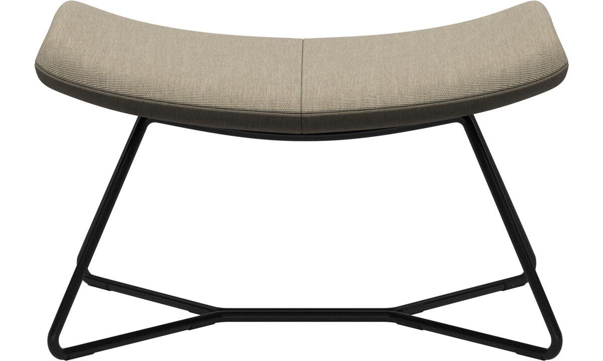 Footstools - Imola footstool - Brown - Fabric