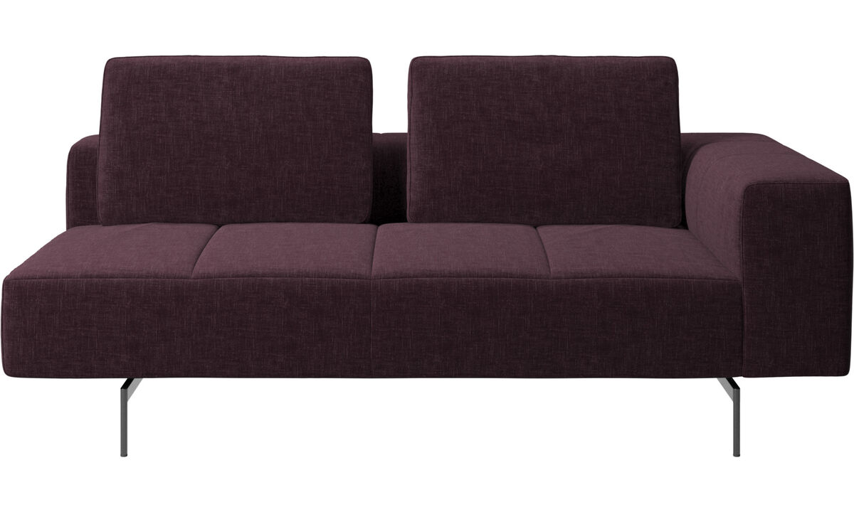 2.5 seater sofas - Amsterdam 2,5 seating module, armrest right - Red - Fabric