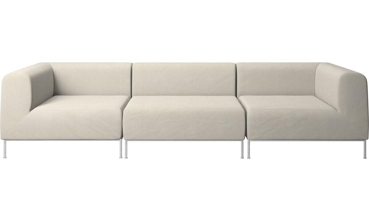3 seater sofas - Miami sofa - White - Fabric