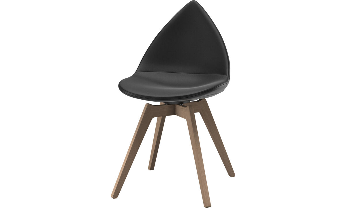 Dining chairs - Ottawa chair - Black - Leather