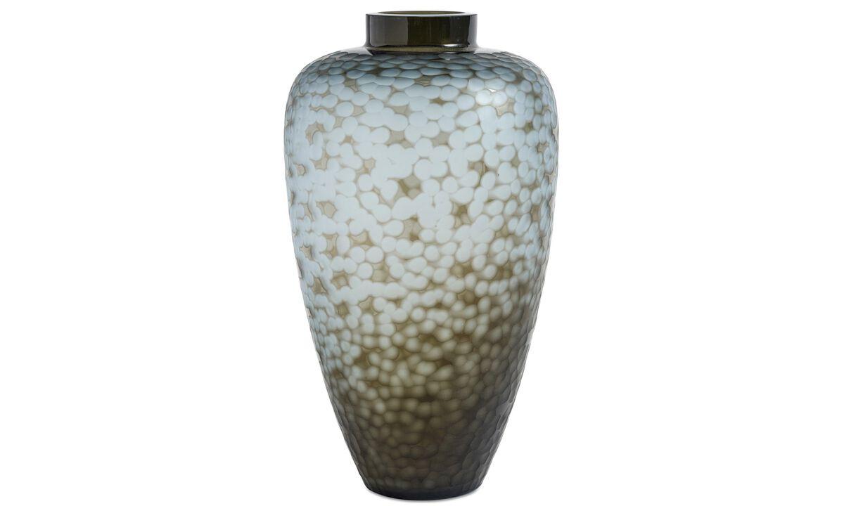Vasen - Vigga Vase - Blau - Glas