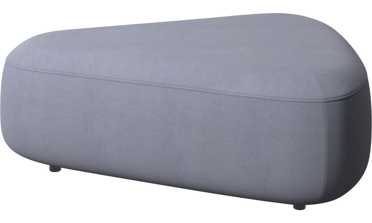 Modular sofas - Ottawa triangular pouf - Blue - Fabric