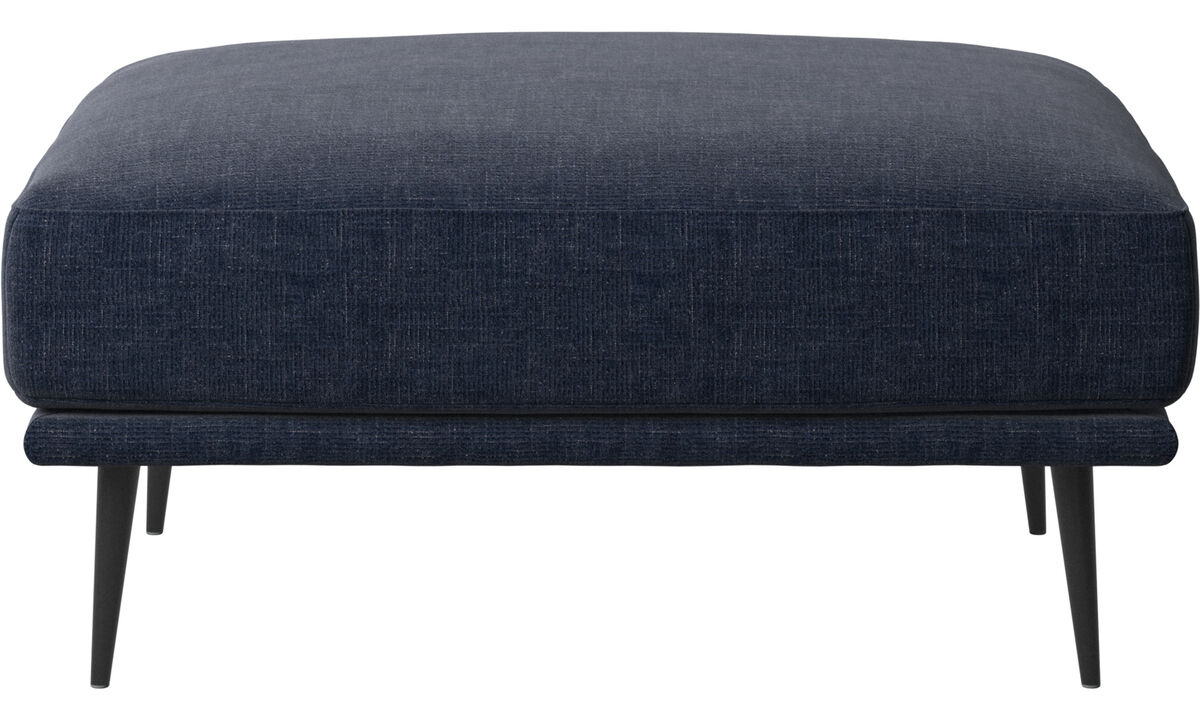 Footstools - Carlton ottoman - Blue - Fabric