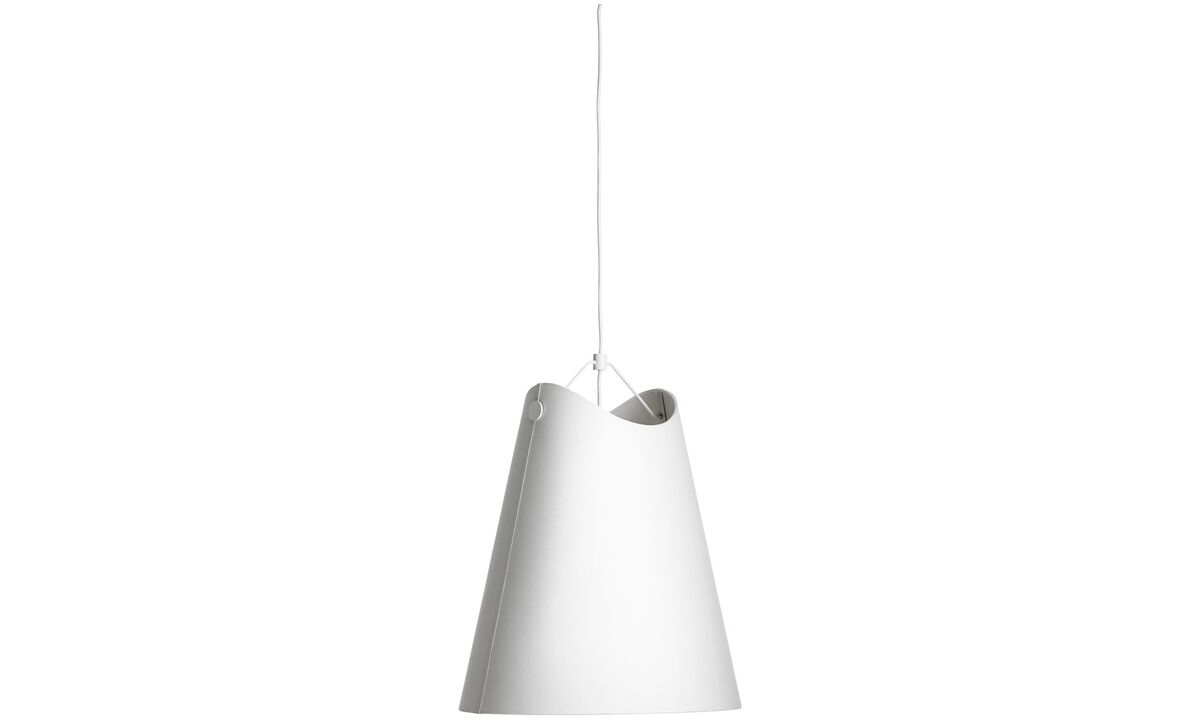 Lamps - Cutaway pendant - White - Fabric