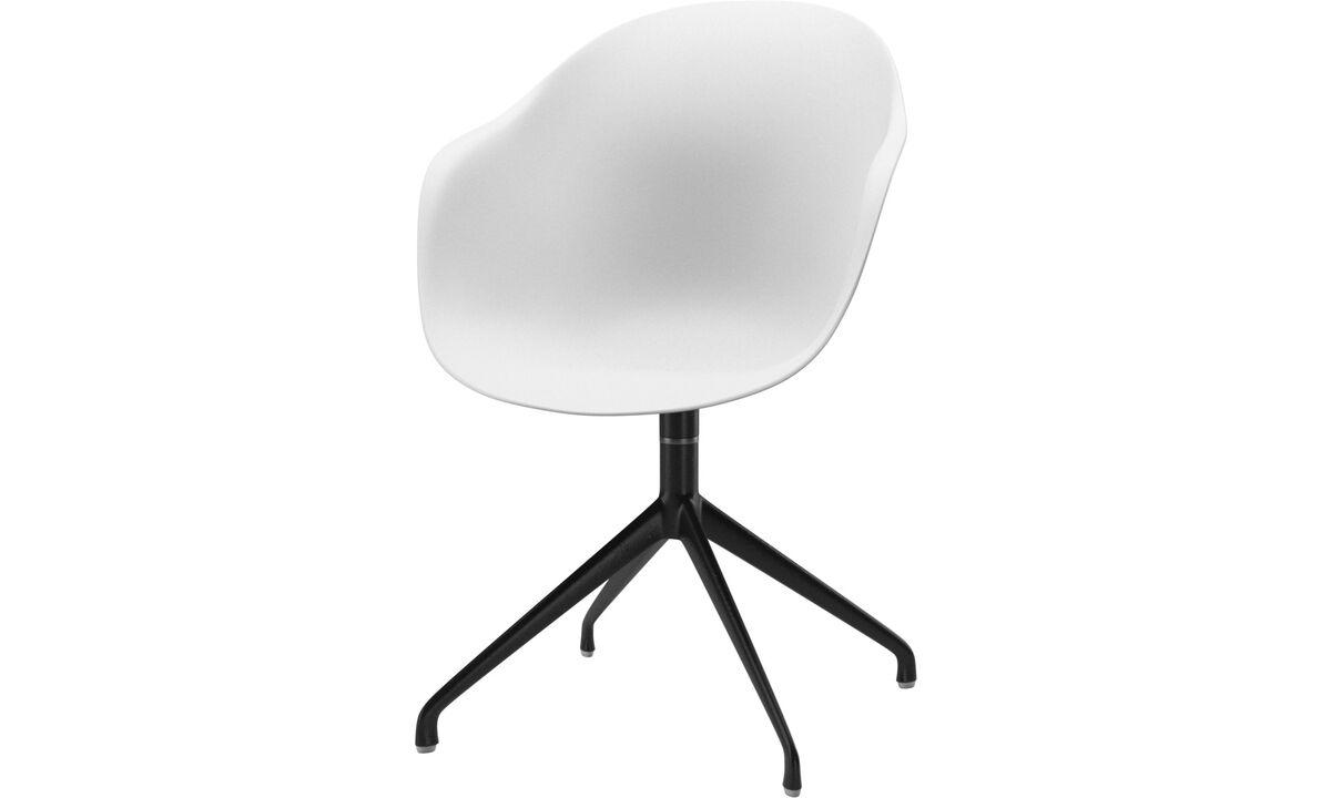 Chaises de salle à manger - chaise Adelaide avec fonction pivotante - Blanc - Laqué