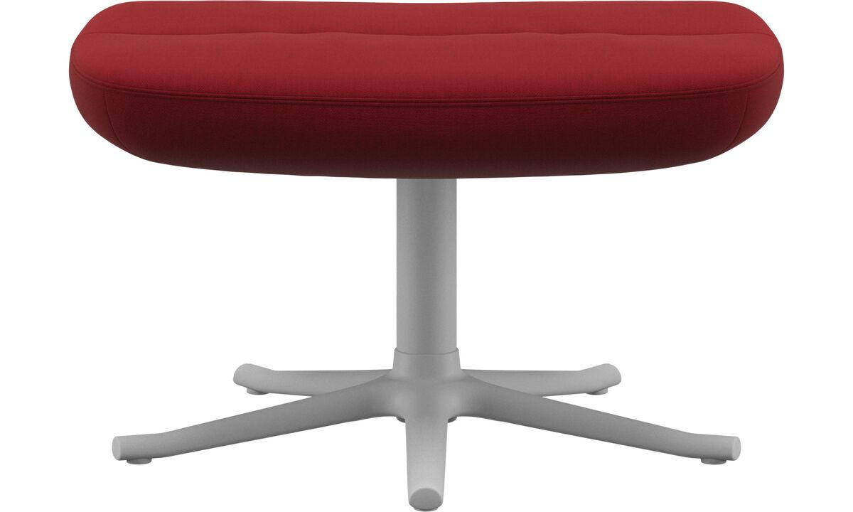 Footstools - Trento footstool - Red - Fabric