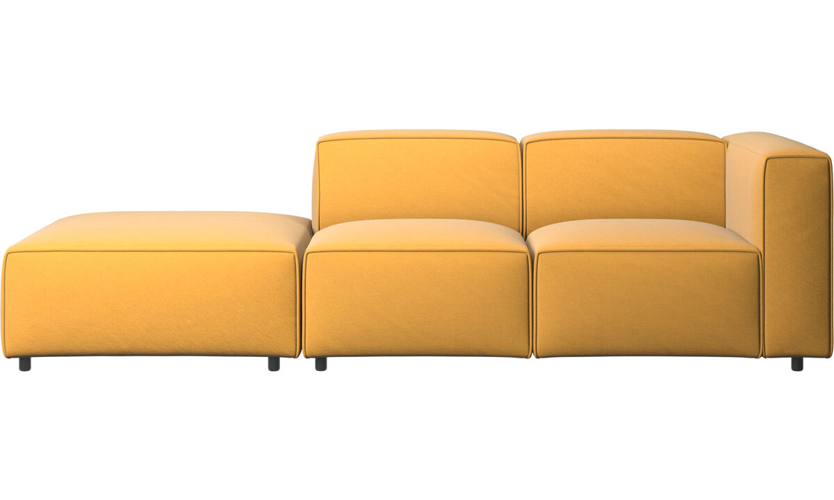 Sofas with open end - Carmo motion sofa - Yellow - Fabric