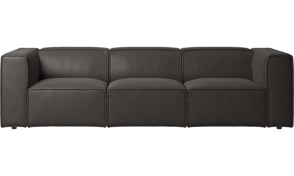 3 seater sofas - Carmo sofa - Brown - Leather