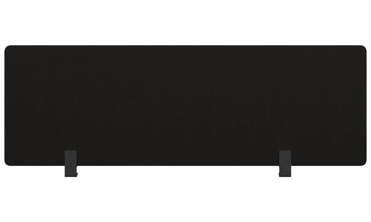 Furniture accessories - modesty panel for office desk - Black - Plastic