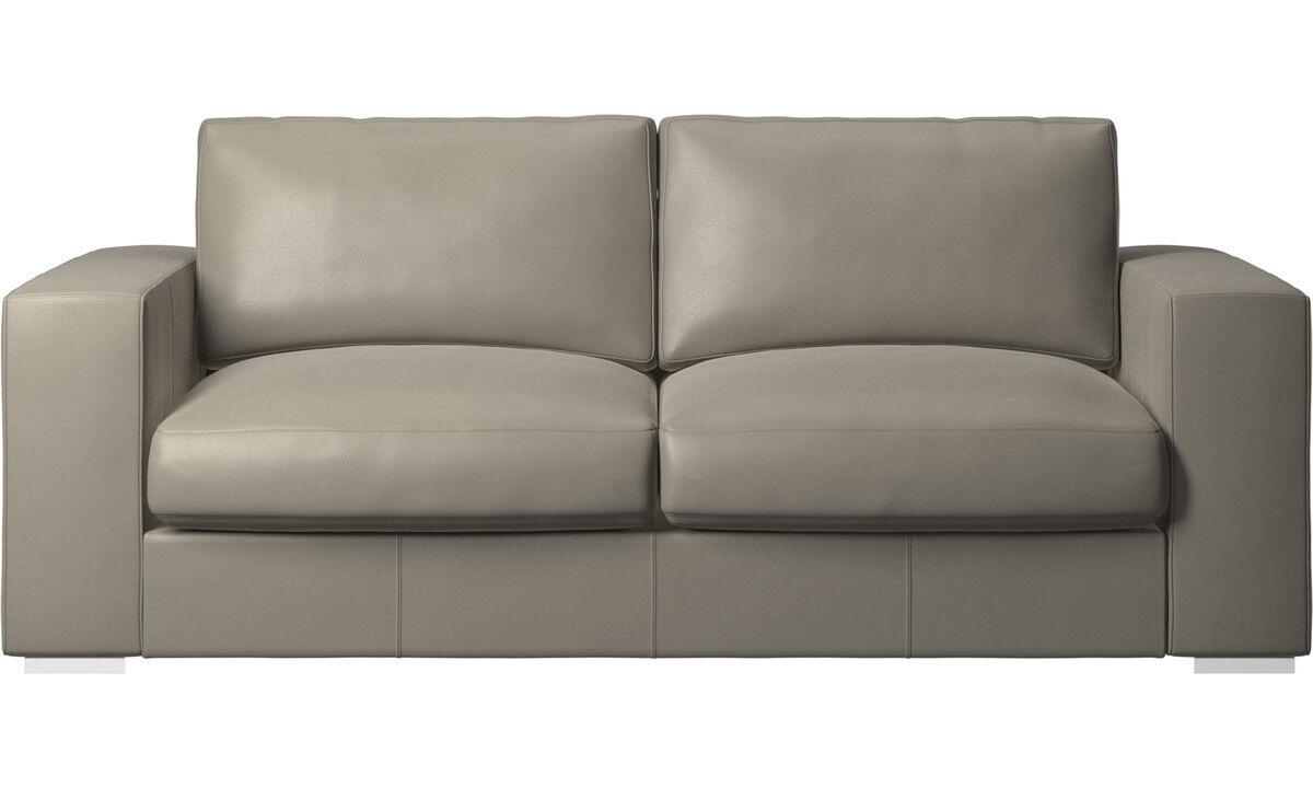 2.5 seater sofas - Cenova sofa - Grey - Leather