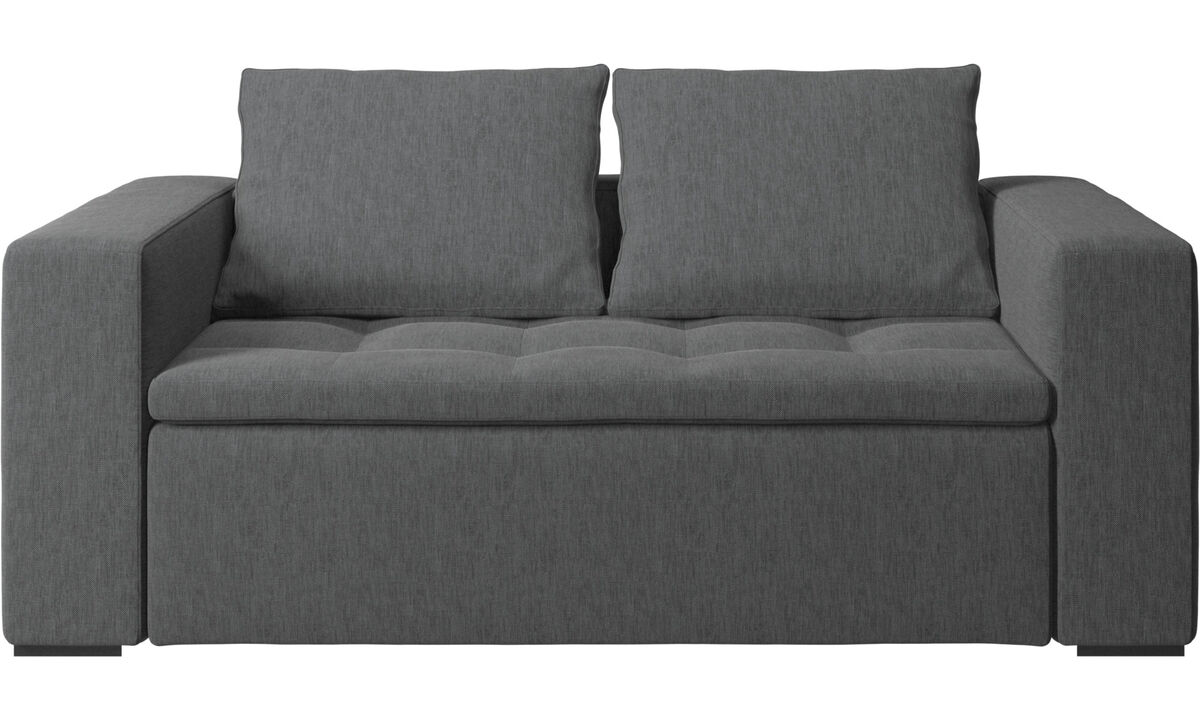 2 seater sofas - Mezzo sofa - Grey - Fabric