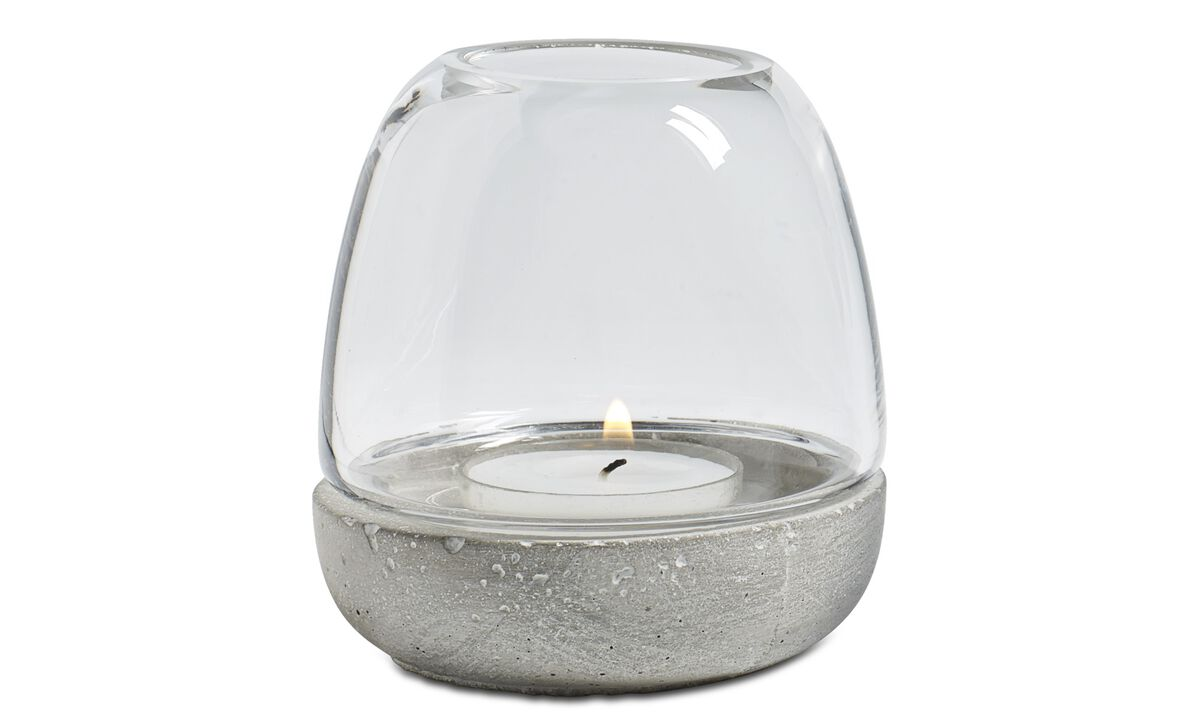 Candleholders - Combi tealight holder - Clear - Concrete