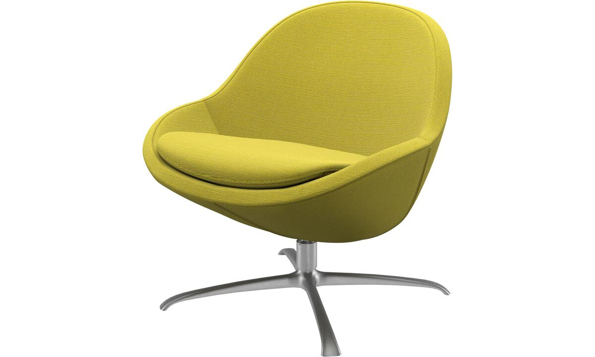 Armchairs - Veneto chair with swivel function - Yellow - Fabric