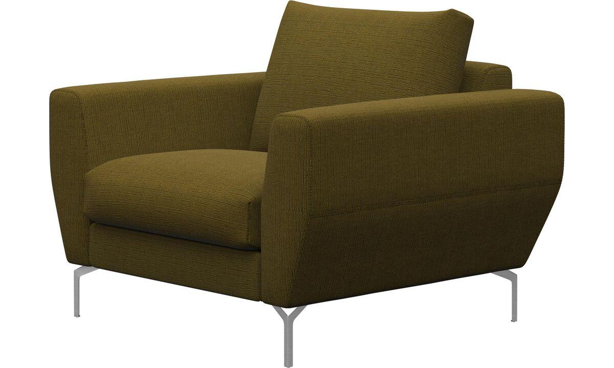 Nojatuolit - Nice-tuoli - Keltainen - Kangas