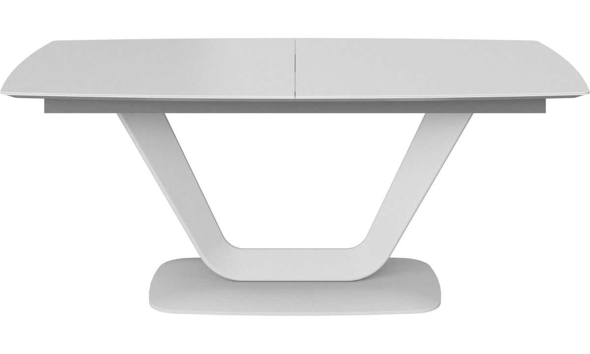 Dining tables - Alicante table with supplementary tabletop - rectangular - White - Lacquered