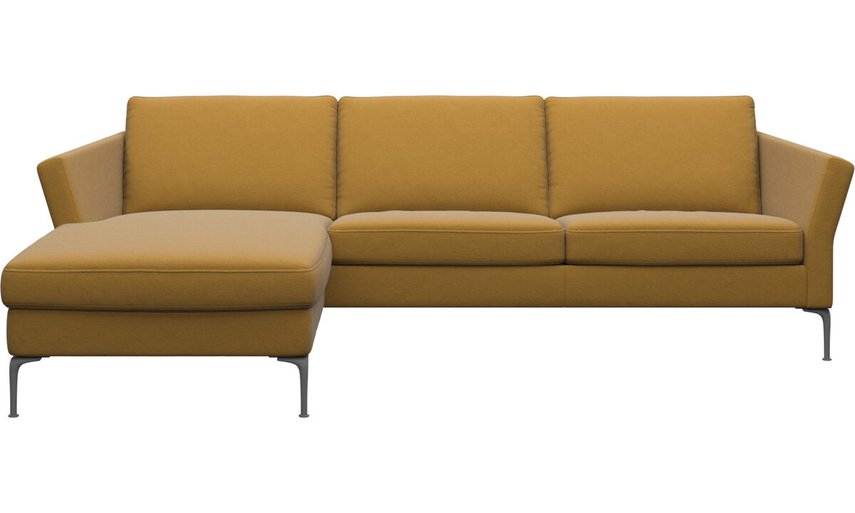 Chaise longue sofas - Marseille sofa with resting unit - Yellow - Fabric