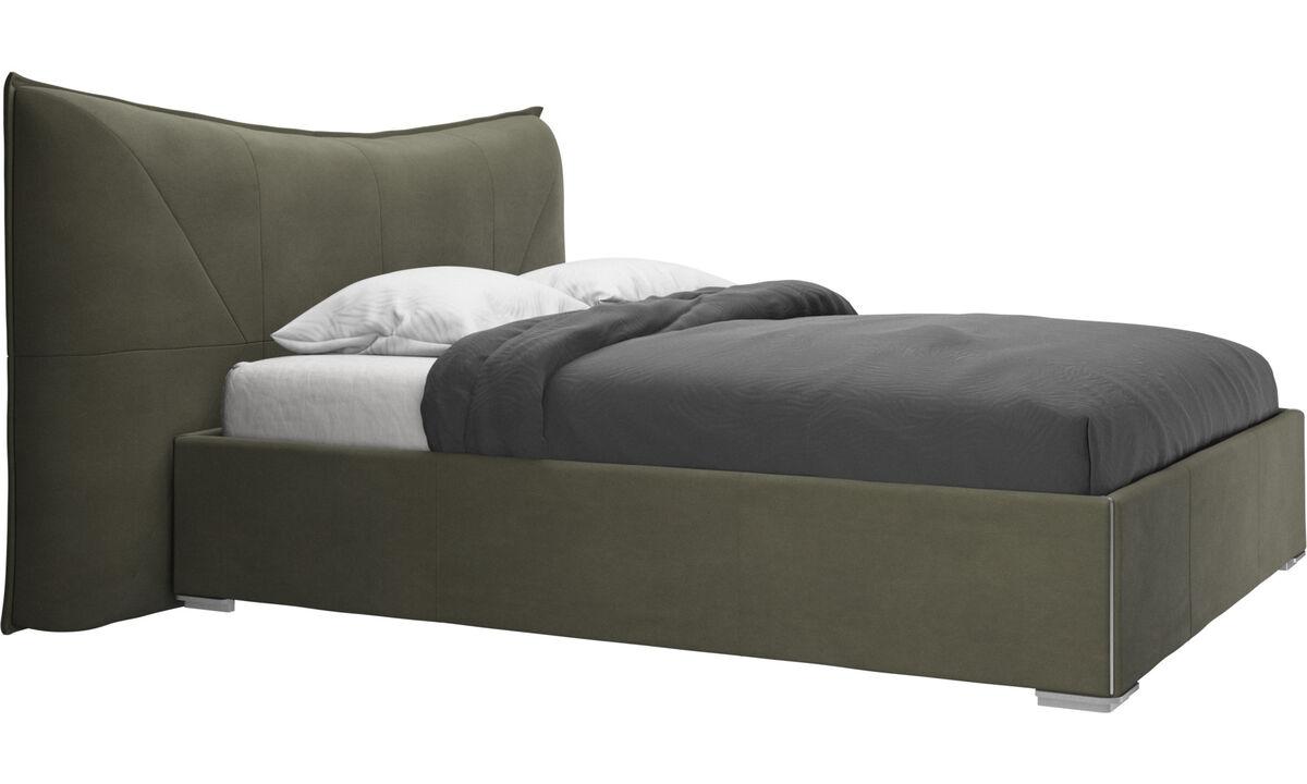 Nuevas camas - Cama Gent, no incluye colchón - En verde - Piel