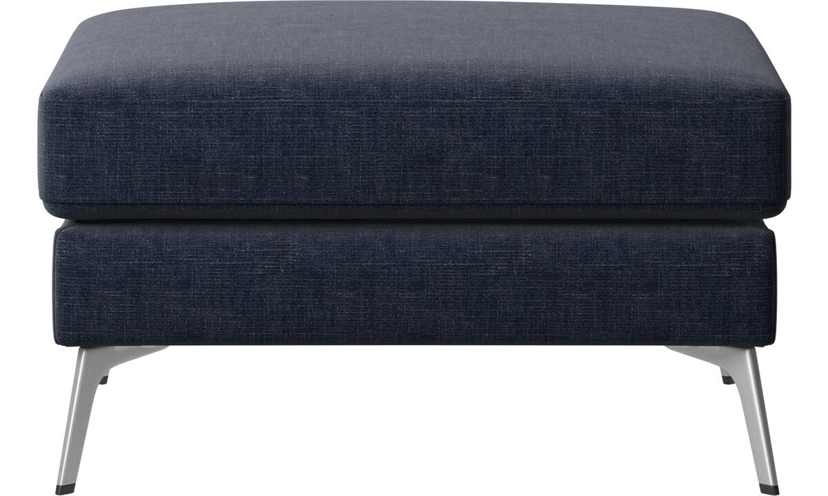 Navy Blue Napoli - Madison ottoman - Blue - Fabric