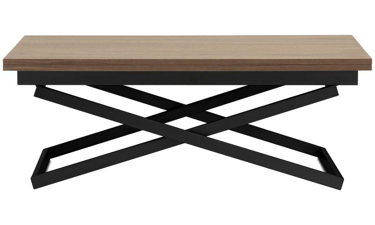 Mesas de centro - Mesa ajustable Rubi (tanto en altura como en tamaño) - rectangular - En marrón - Nogal