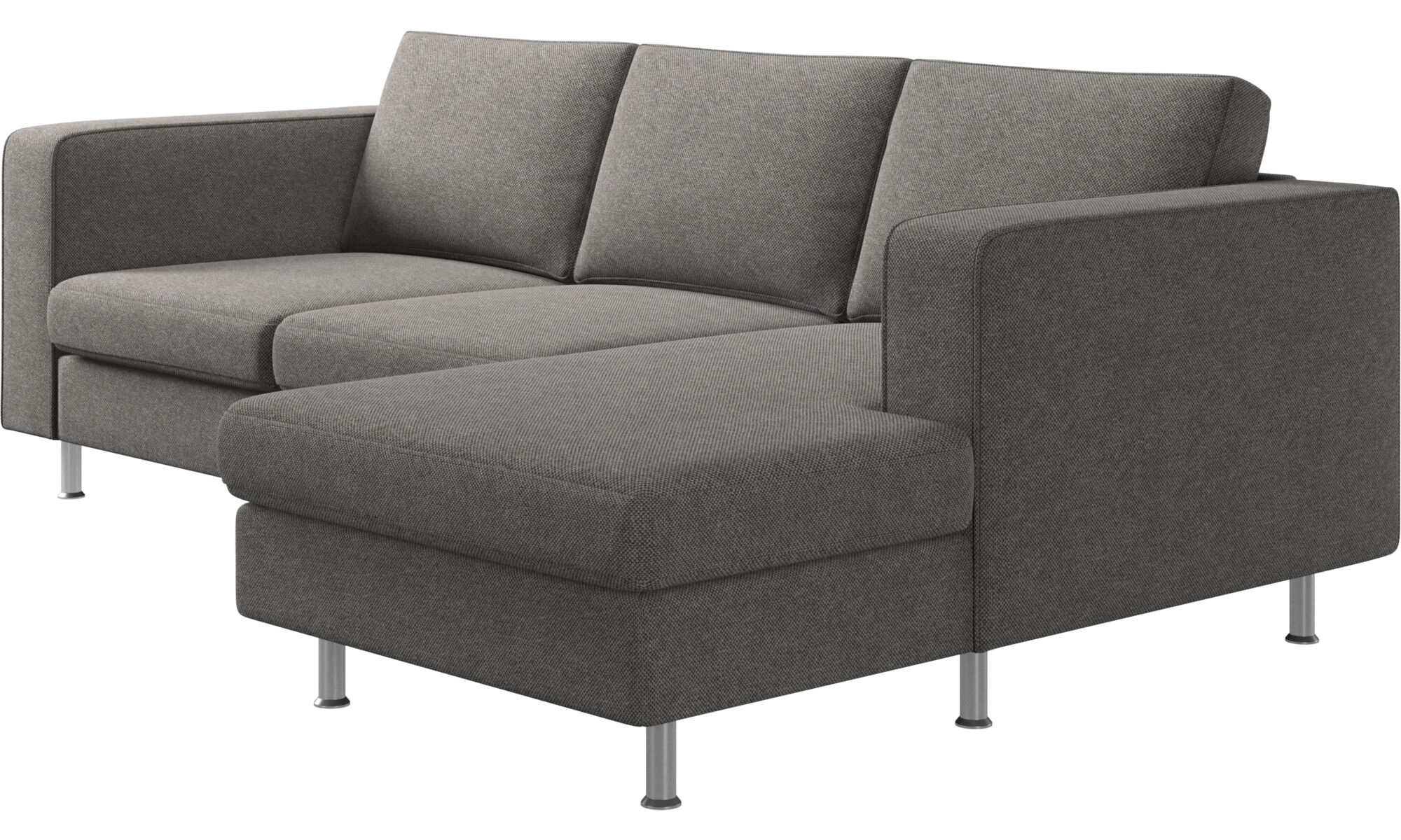 ... Chaise Lounge Sofas   Indivi 2 Sofa With Resting Unit   Gray   Fabric  ...