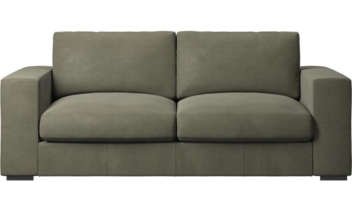 2.5 seater sofas - Cenova sofa - Green - Leather