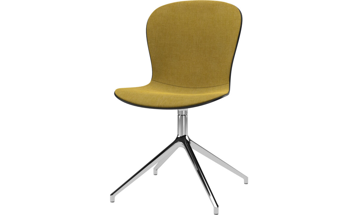 Dining Chairs Singapore - Adelaide chair with swivel function - Yellow - Fabric