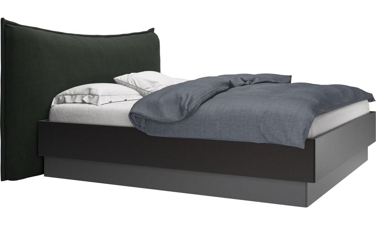 Nuevas camas - Cama con canapé, estructura elevable y tablado, no incluye colchón Gent - En verde - Tela