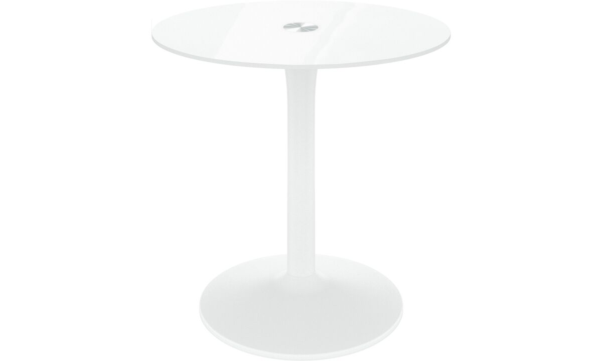 Dining tables - masa New York - rotund - Alb - Sticla