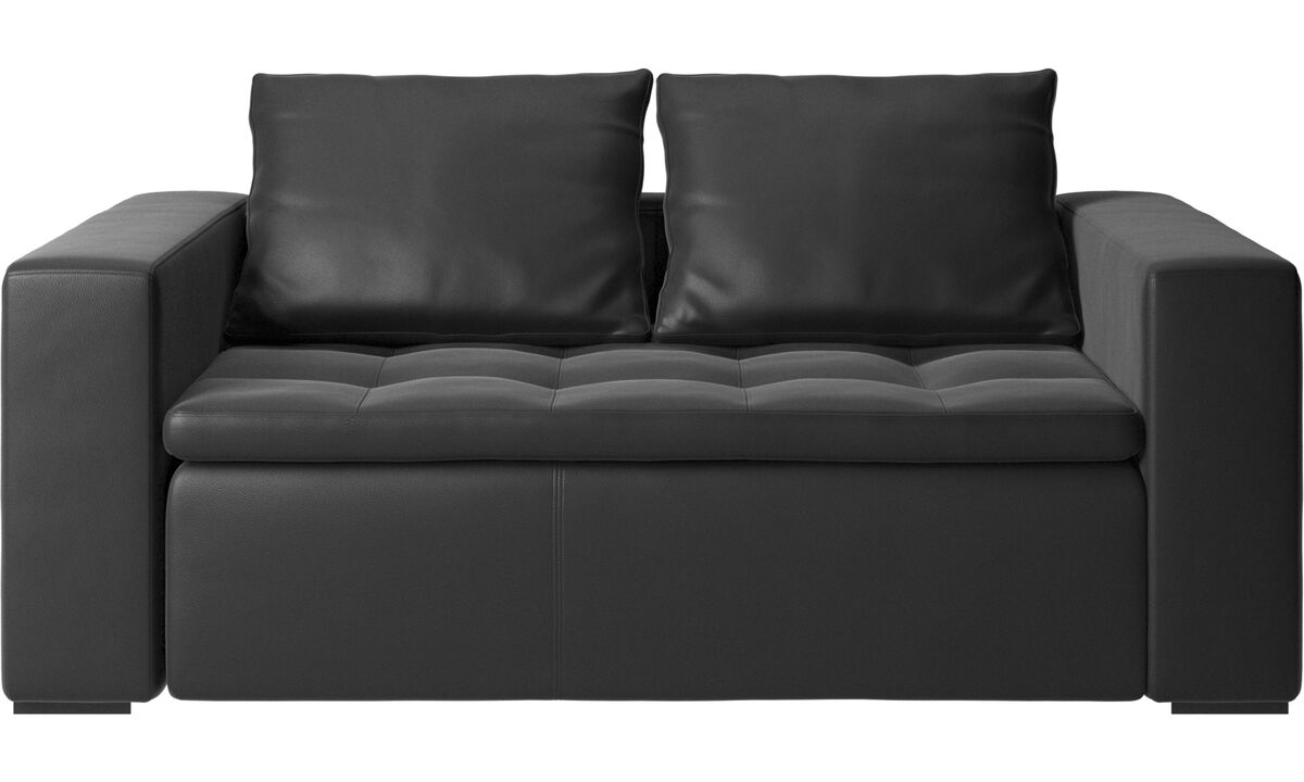 2 seater sofas - Mezzo sofa - Black - Leather