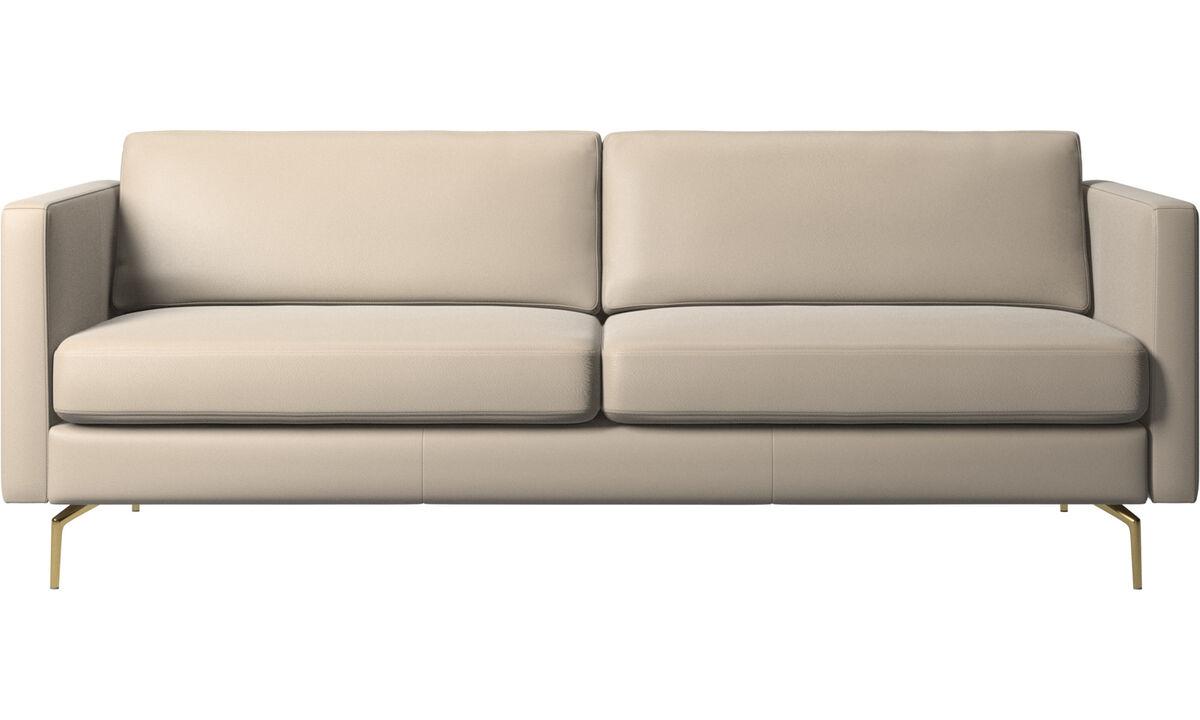 2.5 seater sofas - Osaka sofa, regular seat - Beige - Leather