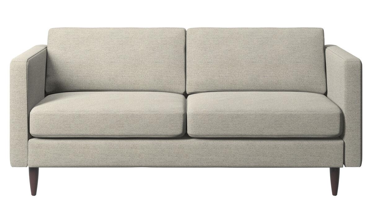 Sofás de 2 plazas - sofá Osaka, asiento regular - En beige - Tela