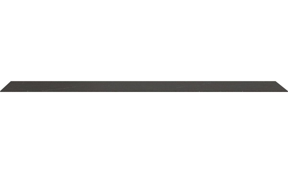 Furniture accessories - Lugano top-plate - Black - Ceramic