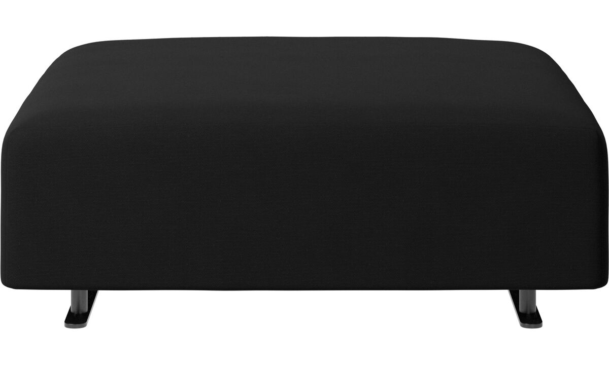 Footstools - Hampton pouf - Black - Fabric