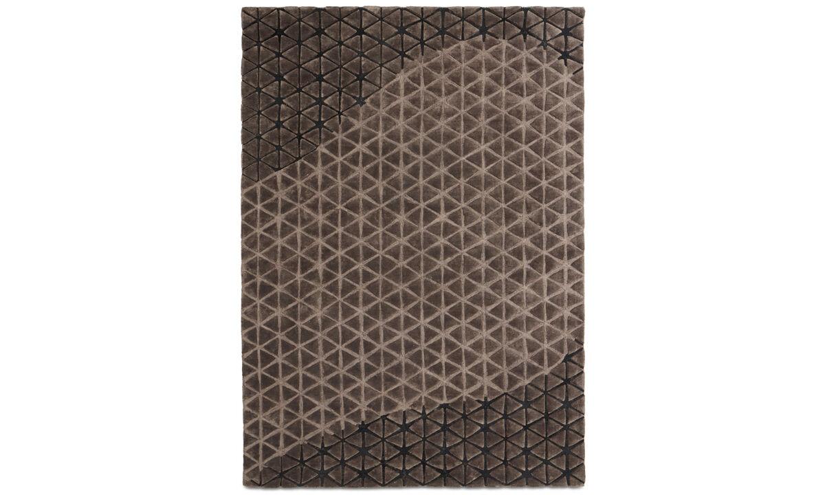 Alfombras - Alfombra Angular - rectangular - En marrón - Algodón