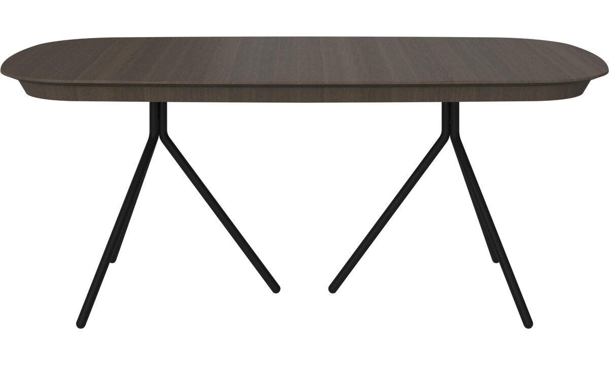 Dining tables - Ottawa table with supplementary tabletop - oval - Brown - Oak