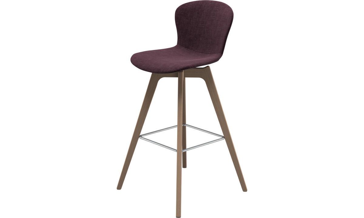 Bar stools - Adelaide barstool - Red - Fabric