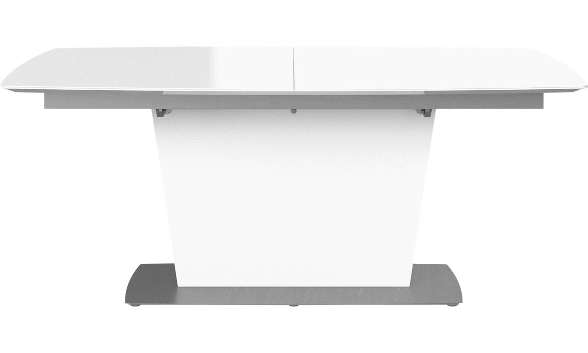 Dining tables - Milano table with supplementary tabletop - rectangular - White - Ceramic