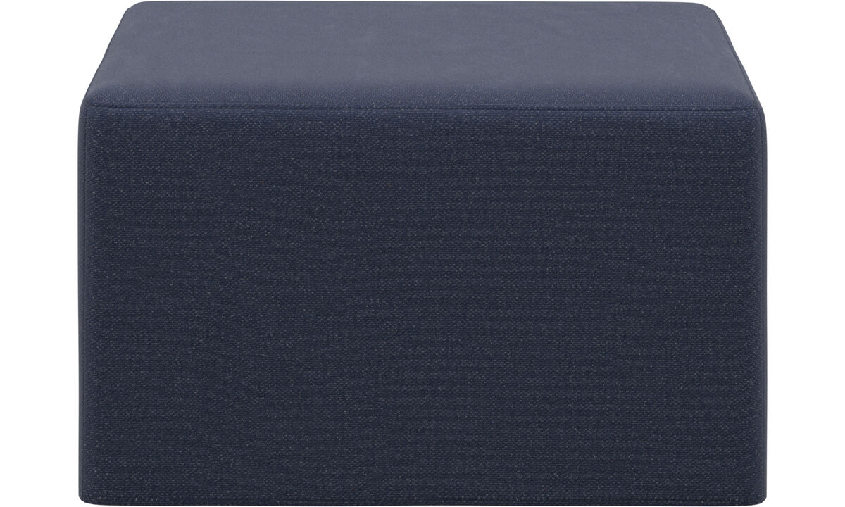 Sofa beds - Xtra footstool with sleeping function - Blue - Fabric