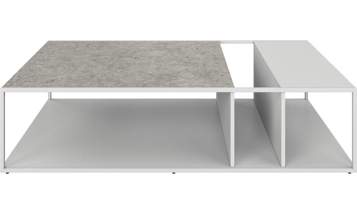 Mesas de centro - Mesa de centro Philadelphia - rectangular - En gris - Cerámica