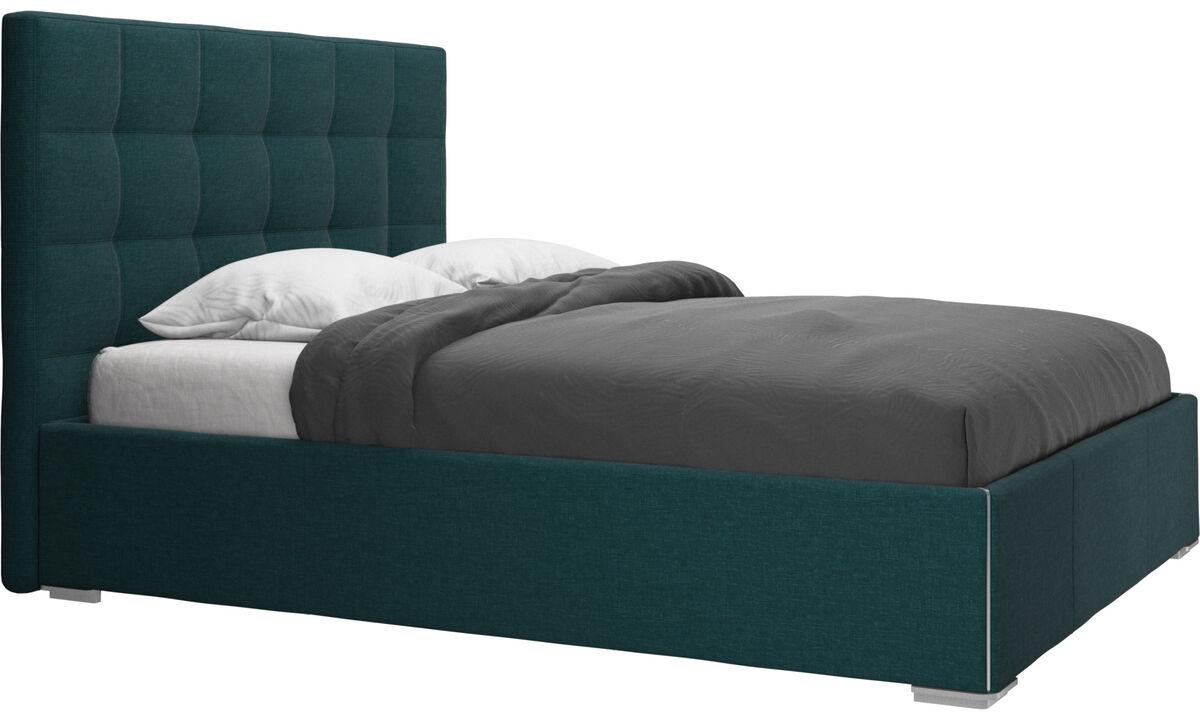 Sängar - Mezzo säng, exkl. madrass - Blå - Tyg