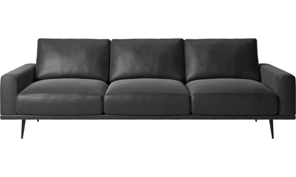 3 seater sofas - Carlton sofa - Black - Leather