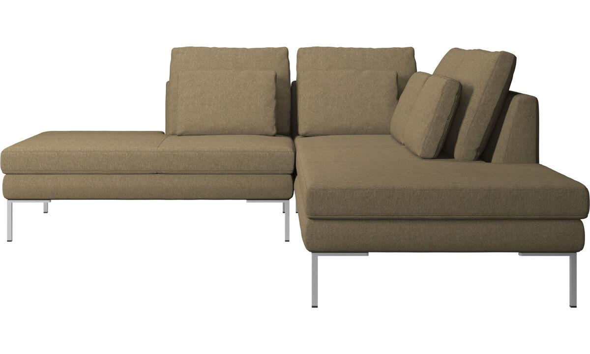Lounge Sofas - Istra 2 Sofa mit Loungemodul - Grün - Stoff