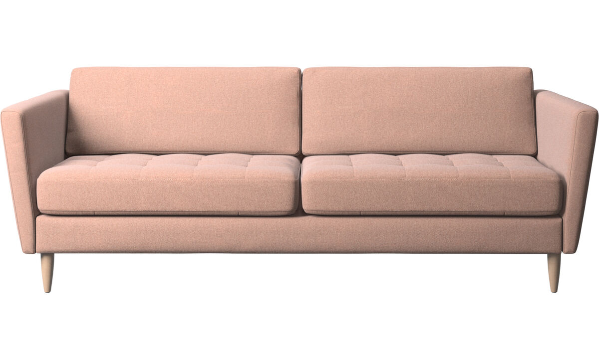 2.5 seater sofas - Osaka sofa, tufted seat - Red - Fabric