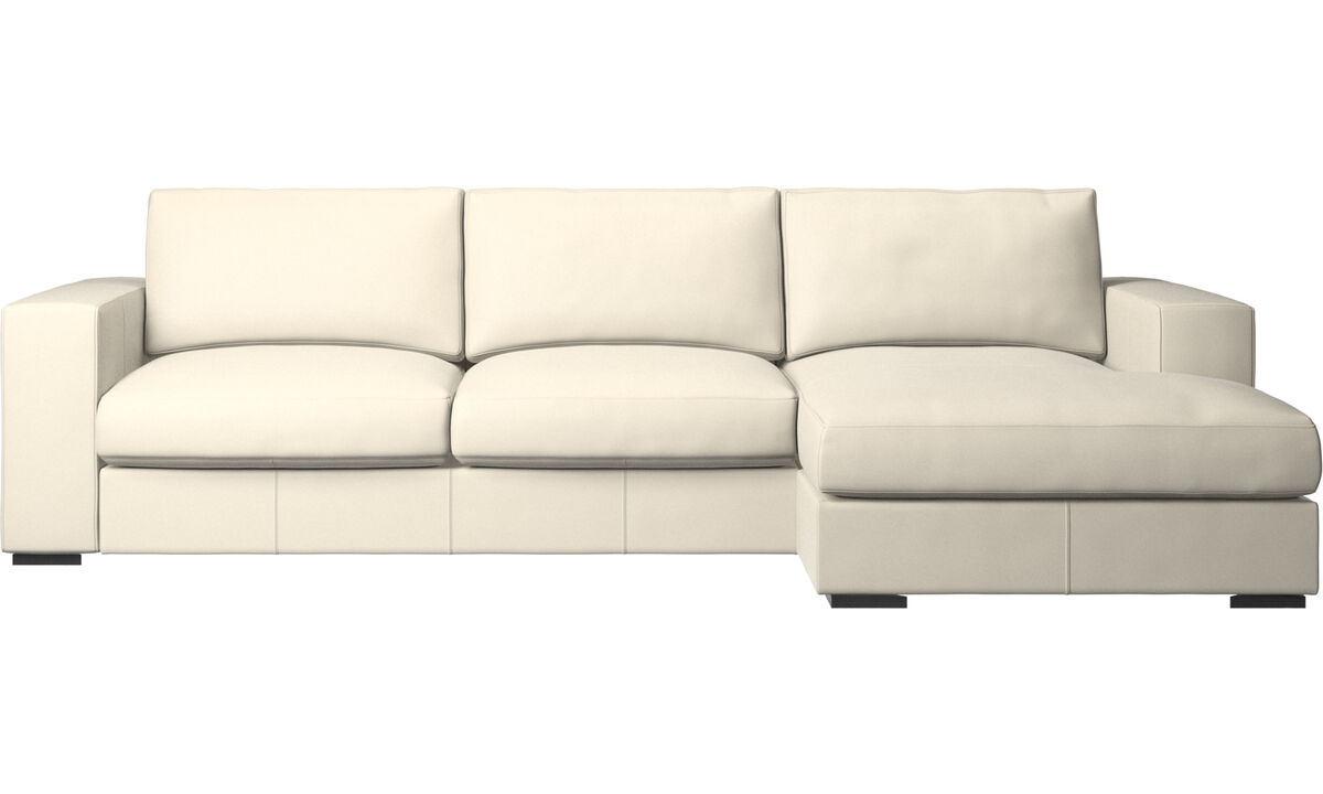 Chaise lounge sofas - Cenova sofa with resting unit - White - Leather