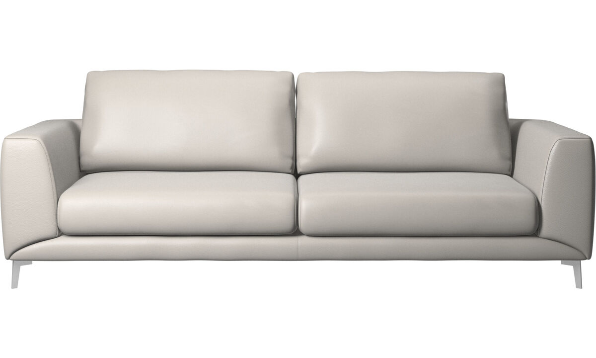 New designs - Fargo sofa - Grey - Leather