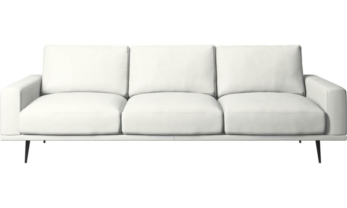 White Leather Sofas Boconcept
